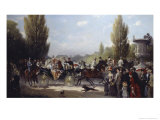 Frederich II and Victoria on the Way to Potstam Giclee Print by F. A. Elmar Eschwege