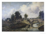 Bridge over the River Stour Giclee Print by Frederick W. Watts