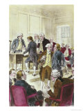 Signing the Declaration of Independence, July 4,1776 Giclee Print by H.a. Ogden