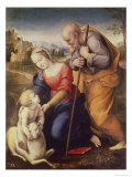 Holy Family with the Lamb Reproduction proc&#233;d&#233; gicl&#233;e par Raphael 