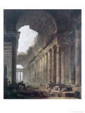Fontaines Reproduction procédé giclée par Hubert Robert
