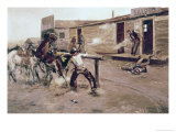 Death of a Gambler Premium Giclee Print by Celia Russell