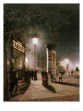 First Electric Street Light, Berlin Giclee Print by Carl Saltzmann
