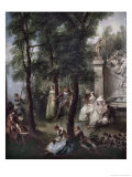 The Swing Giclee Print by Nicolas Lancret