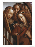 Singing Angels, Ghent Altarpiece Giclee Print by  Jan van Eyck