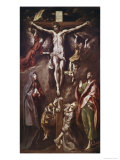 Crucifixion with Virgin, Magdalene, St. John and Angels Giclee Print by  El Greco