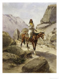 Indian on Horseback Giclee Print by Heinrich Hansen