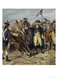 Washington Firing First Shot at Yorktown Giclee Print by H.a. Ogden