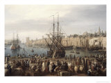 Port of Marseille Giclee Print by Claude Joseph Vernet