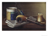 Smoking Scene Premium Giclee Print by William Michael Harnett