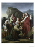 Christ Healing the Blind Giclee Print by Martinus Rorbye
