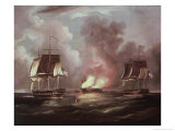 Bonnehomme Richard vs. the Serapis Giclee Print by Thomas Butterworth