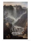 The Falls of Terni Giclée-Druck von Claude Joseph Vernet