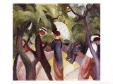 Promenade Giclee Print by Auguste Macke