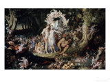 Oberon and Titania: Midsummer Night's Dream Giclee Print by Joseph Noel Paton