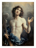 Saint Sebastian Gicle-tryk af Carlo Dolci