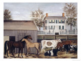 The Barnyard Giclee Print by A.e. Zeliff