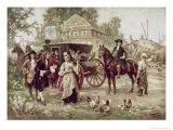 On the Road to Penn's Manor, c.1701 Giclee Print by Jean Leon Gerome Ferris