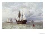 Outward Bound Whaler Giclee Print by William Bradford