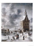 The Town Gate of Hoorn Giclee Print by Jan Beerstraten