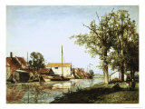 Dutch Canal Scene Giclee Print by Johan-Barthold Jongkind