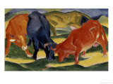 Fighting Cows Giclee Print by Franz Marc