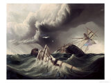 Wreck of an American War-Sloop Giclee Print by J. Lowell