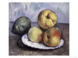 Still Life with Apples and Peaches Giclee Print by Paul C&#233;zanne