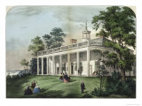The Home of Washington Reproduction procédé giclée par Currier & Ives