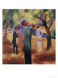 Lady in a Green Jacket Giclee Print by Auguste Macke