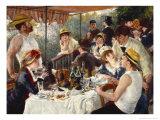 Roernes frokost Giclée-tryk af Pierre-Auguste Renoir