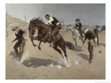 Turn Him Loose Bill Giclee Print by Frederic Sackrider Remington