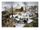 Payment of the Tax at Bethlehem Lámina giclée por Pieter Brueghel the Younger