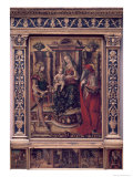 Madonna and Child with St. Jerome and St. Sebastian Giclee Print by Carlo Crivelli