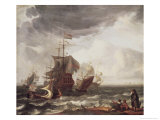 Dutch Warships Giclee Print by Ludolf Backhuysen