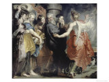 Lot's Flight from Sodom Giclee Print by Peter Paul Rubens