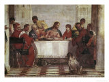 Detail of Dinner in the House of Levi Giclee Print by Paolo Veronese