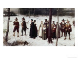 Pilgrims Going to Church Giclee Print by George Henry Boughton