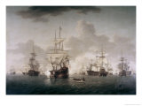 Admiral Lord Howe Joining His Flagship Giclee Print by William Anderson