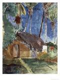 Tahiti Landscape Impression giclée par Paul Gauguin