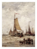 Fisherman on the Beach Giclee Print by Hendrik Willem Mesdag