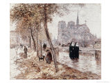 Notre Dame de Paris Giclee Print by Jean Francois Raffaelli