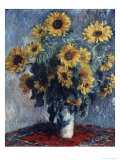 Sunflowers Giclee Print by Claude Monet