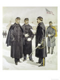 Officers and Enlisted Men Giclee Print by H.a. Ogden