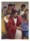 Christ and the Children of All Races Giclee Print by Vittorio Bianchini