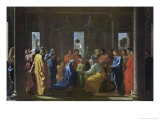 Marriage Lmina gicle por Nicolas Poussin