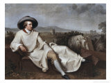 Portrait of Goethe Giclee Print by Johann Friedrich August Tischbein