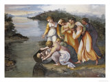 Moses Found in the Bulrushes Giclee Print by  Raphael