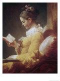 Jeune fille lisant Reproduction procédé giclée par Jean-Honoré Fragonard