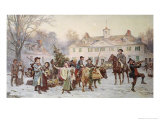 The Mount Vernon Yule Log Giclee Print by Jean Leon Gerome Ferris